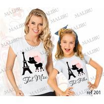 Tal Mãe Tal Filha Camisetas Baby Look Personalizada Com 2 Un