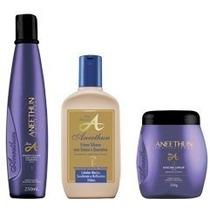 Linha A Shampoo + Condicionador 250 Ml + Máscara Aneethun