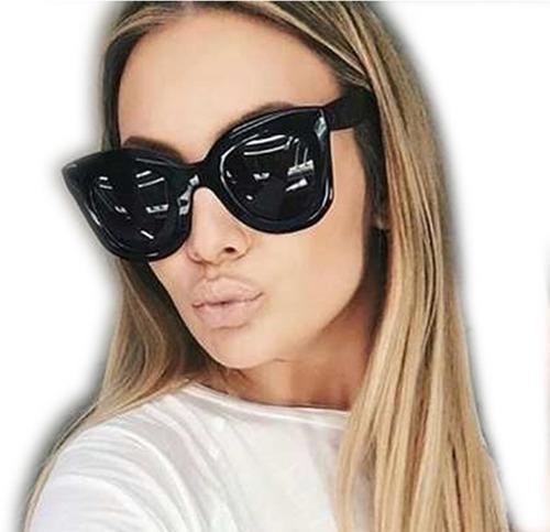 d09bf1bc57097 Óculos Feminino Sol Celine Marta Blog Redondo Quadrado Preto