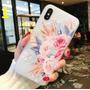 Capa Capinha Case Floral Rose Lux Para iPhone 7 Plus 8 Plus