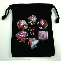 Dados Rpg De Mesa Kit Bag D4 D6 D8 D10 D12 D20 D10% Marrom