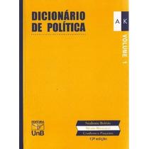 Livro: Dicionário De Política - Norberto Bobbio - 2 Volumes