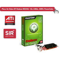 Placa De Vídeo Ati Radeon Hd5450, 1gb, Ddr3 - Hdmi, Dx11