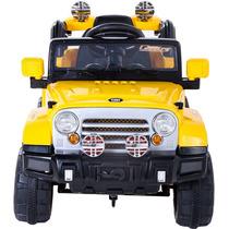 Jipe Infantil Carro Elétrico Trilha Controle Remoto Amarelo
