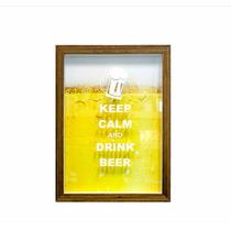Quadro Para Colecionar Tampinhas De Cerveja. Frete Grátis