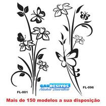 Adesivo Decorativo De Parede + 140 Modelo Floral, Vidro, Box
