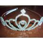 Fantasia De Princesa Luxo Coroa De Strass Cor Prata Glamour