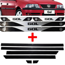 Kit Friso Lateral + Soleira Gol G3 00/05 Modelo Largo