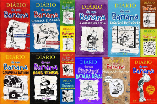 ad67260ce5bf7 Coleção Diário De Um Banana 15 Livros. R  412. 2 vendidos