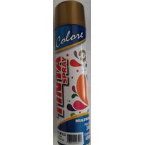 Kit 5 Lata Tinta Spray Dourado Metálico Multiuso