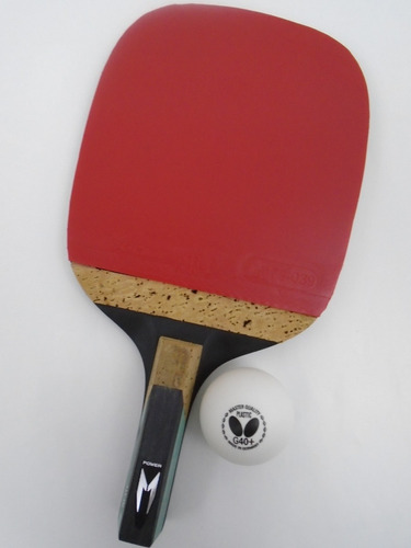 9f5fd3a74 Raquete Tenis De Mesa Xiom +1 Bol Butterfly Caneta Japonesa