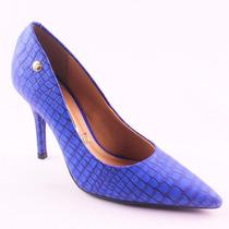 Sapato Feminino Scarpin Azul Vizzano Lançamento 584250