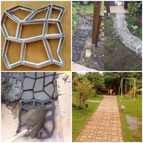 Forma Piso Jardim / Calçada Concreto 43x42x4 C/ Manual Uso