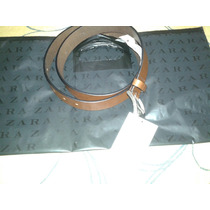 Cinto Zara Man Couro Marrom Novo Etiqueta Sacola