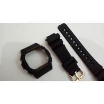 Kit Capa/besel + Pulseira Casio G-shock Dw-5600e Ouro