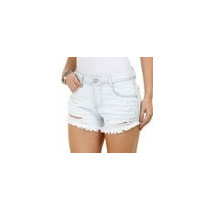 Short Feminino Em Jeans Com Hot Pants Cintura Alta