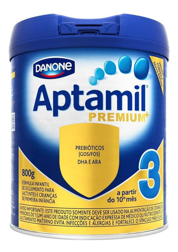 Fórmula Infantil Em Pó Danone Aptamil Premium 3 Em Lata De 800g