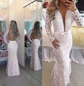 6cefdd775ba7 Vestido De Renda Sereia Longo Noiva Casamento Com Tule D089q à venda ...