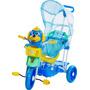 Triciclo 3 Em 1 Infantil C/ Capota Música Luz Vira Gangorra