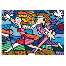 Quebra Cabeça Puzzle 2000pç Romero Britto Love Blossoms Grow