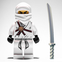 Boneco Lego Zane Original Ninja Branco Da Série Ninjago 2506