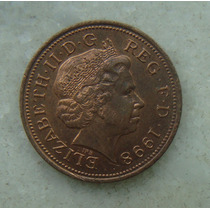 1616 Inglaterra 1998 Two Pence Elizabeth I I 26mm - Bronze