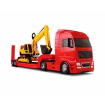 Caminhao Carreta Diamond Truck Escavadeira Roma Brinquedo