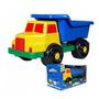 Brinquedo Caminhão De Plástico Mega Caçamba Praia