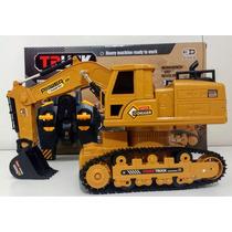Escavadeira  Infantil+controle Remoto Xm-6810l(modelo Maior)