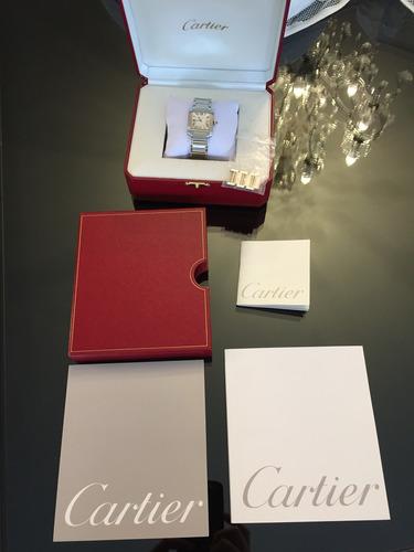 450139335b4 Relógio Cartier Tank Française Médio Em Aço E Ouro Original. Preço  R  9500  Veja MercadoLibre