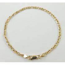 Pulseira Masculina Grumet 4,3g 18cm Em Ouro 18k Certificado