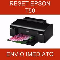 Reset Epson T50- Almofadas - Vida Útil - Gota