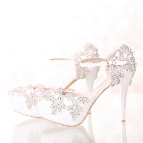 2e0e61969 Sapato Salto Alto Casamento Com Strass Importado
