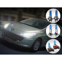 Kit Lâmpada Super Branca Peugeot 307 07 08 09 10 11