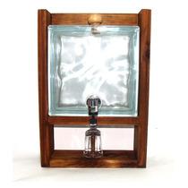 Pingometro De Vidro Transparente Tijolo Com Copo Degustação