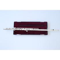 Flauta Transversal Profissional Yamaha 461 Ii Prata Maciça