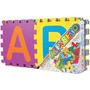 Tapete Em Eva Colorido Alfabeto Texturizado - 26 Peças