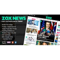 Zox News 2.0.1 Professional Wordpress News E Magazine Theme