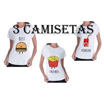 Camiseta Best Friends Forever ( 3 Camisetas)