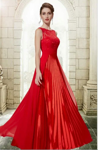123afda2dc Vestido Vermelho M Madrinha Casamento Mãe De Noiva Noivo. R  399