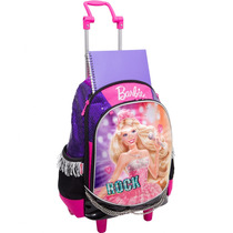 Mochila De Rodinhas Barbie Rock