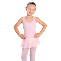 Collant Regata Infantil Ballet Em Helanca C/ Saia Em Jersey