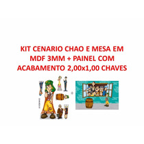 Kit Cenario Em Mdf+painel 2,00x1,00 Chaves