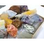 Coleção 18pedras Brutas Grandes C/caixa Madeira P/guardar Original