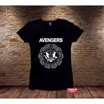 Blusa Feminina Avengers Heróis Ramones Sátira Ultron