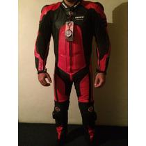 Macacão Motociclista Texx Phanton 1 Peça Couro Cupim Tam P