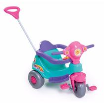 Motoca Tico Velocita Rosa Calesita Carrinho Infantil