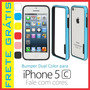 Case Bumper Tpu Dual Color Iphone 5c Capa Capinha +2 Brindes