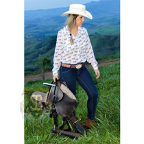 Camisete Country Fem Estampa Exclusiva Selaria Guiricema