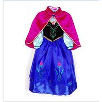 Lindo Vestido Ana Frozen Fantasia Pronta Entrega